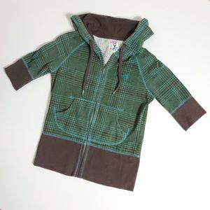 Roxy plaid hoodie small